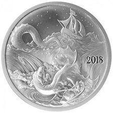 2018 1 oz Leviathan Silverbug Island Silver Round - 999 - BU - Free Coin Capsule