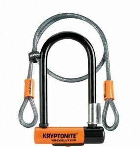 KRYPTONITE Evolution Mini-7 Lock + 4 Foot Kryptoflex Cable & Flexframe Bracket