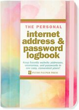 Watercolor Sunset Internet Address & Password Logbook Hardcover