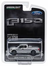 NEW! 1:64 Greenlight *INGOT SILVER* 2015 Ford F-150 XLT Pickup Truck w/TOW HITCH