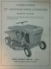 Sears Craftsman Riding Lawn Mower Owner, Parts & Engine Manual (2 BOOKS) Tractor