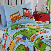 Toy Trains Toddler Bedding