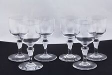 "SET OF 6 BACCARAT CRYSTAL 4-1/8"" SHERRY GLASSES, MADE IN FRANCE - MINT"