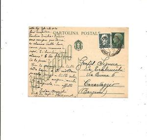 R.S.I. INTERO POSTALE VINCEREMO DA PONTREMOLI TELEGRAFO APUANIA 8/2/1944