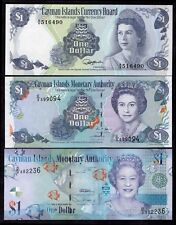 Cayman Islands: Monetary Authority, 3 x 1 dollar, 1974-2010.