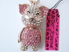 Betsey Johnson  Rhinestone Lovely pig Pendant Necklace #F85