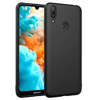 Hülle Für Huawei Y7 Schutzhülle Handy Hülle Slim Case Weich Matt Schwarz