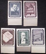 Austria 1953 MNH** Evangelical School Rebuilding Fund Set SG1246-50