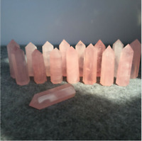 Natural pink rose quartz obelisk crystal tower wand point healing 2.2LB