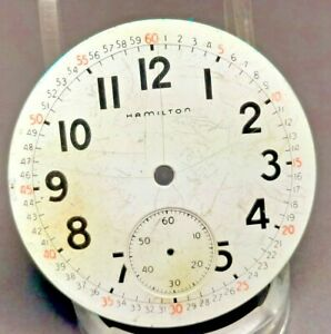 Good 16s, 21 jewel Hamilton 992B Pocket  Watch Dial and Hands - 21j