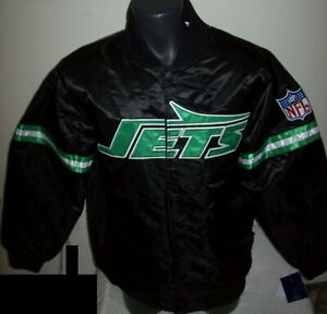 NEW YORK JETS Starter Throwback Style NFL Jacket BLACK S M L XL 2X