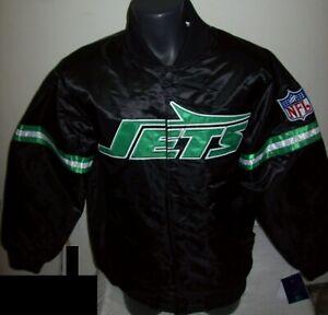 NEW YORK JETS Starter Throwback Style NFL Jacket BLACK M L XL 2X