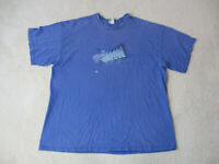 VINTAGE Nike Shirt Adult 3XL XXXL Blue White Swoosh Spell Out Mens 90s H*