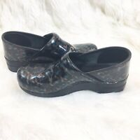 Dansko Clogs - Size 42 - Patent Leather Cheetah Leopard Print  - Nursing w/ Box