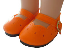 """Doll Clothes fits 14.5"""" Wellie Wisher Orange Mary Jane Shoes Halloween"""