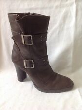 XPRESS Brown Ankle Leather Boots Size 4