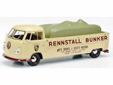 Schuco VW T1 Bulli Pritsche Rennstall Bunker, beige, Limited Edition 1000
