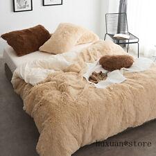 Fleece Thick Pure Color Bedding Set Mink Velvet Duvet Cover Bed Sheet Bed Linen