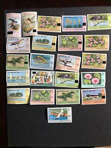 anguilla stamp scott 402-423 mnhog scv 30.00 a1529