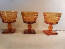 3 Indiana Glass Co Colony Golden Amber Park Lane 5 oz Sherbets/Short Champagnes