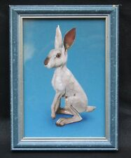 Raku Winter Hare by Brian Andrew Framed  Promotional Photographic Postcard