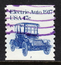 Usa — Scott 1906 — Electric Auto — Used Single #2 — Scarce Purple Machine Cancel