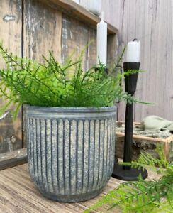 Rustic Grey Concrete Plant Pot Planter Flower Herb Pot Outdoor Garden Home Decor