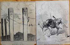 STOP Lithographie Le Charivari Caricature Humour XIXe La Question d'Orient