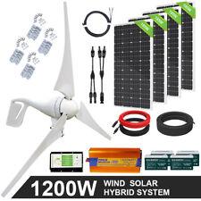 Eco 1200W 800W 600W Hybrid Power Generator Kit Wind & Solar Panel Kit For Home