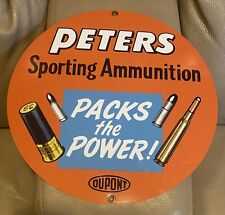 Peters Sporting Ammunition Metal Sign