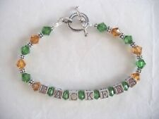52b35414c GREEN BAY PACKERS NFL JEWELRY BRACELET made with SWAROVSKI CRYSTALS Green,  Gold