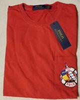 $49 NEW NWT RALPH LAUREN POLO MEN'S CREW NECK POCKET T-SHIRT SIZE SZ M L XL RED