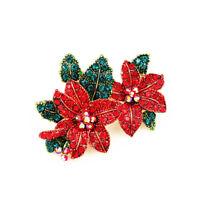 Women's Fashion Enamel Crystal Flower Charm Betsey Johnson Brooch Pin Gift