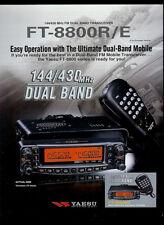 Yaesu FT-8800R/E 144/430 MHz HAM FM Radio DEALER SHEET PAGE READ DESCRIPTION!
