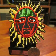 SUBLIME Embroidered Sew On/Iron On Patch; Sun Logo; Colorful Classic; nos