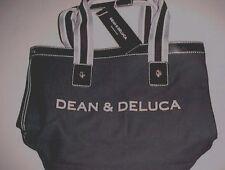 Dean & Deluca Women Small Signature Black Denim Cotton Tote New