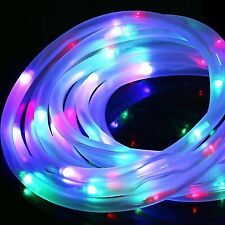 4Color 100LED 40FT Soalr Rope Light Waterproof Outdoor Rope Lights, Portable,