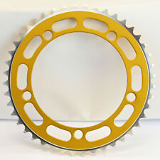 Old School BMX Chainring 5 Bolt  130BCD Gold
