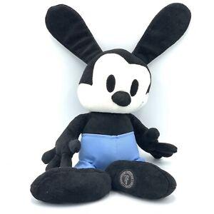 "Disney Store Oswald The Lucky Rabbit Plush Stuffed Animal Black White Toy 18"""