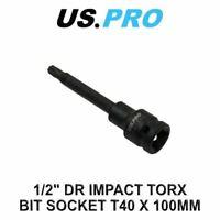 """US PRO Tools 1/2"""" Dr Impact Torx Bit Socket T40 X 100mm 3328"""