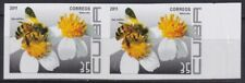 2011.439 SPAIN ANTILLES MNH 2011 IMPERF PROOF PAIR 35c ABEJAS BEE FLOWER FLORES