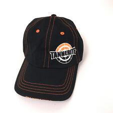 Tannerite hat black cotton cap with orange stitching unworn condition hbx159