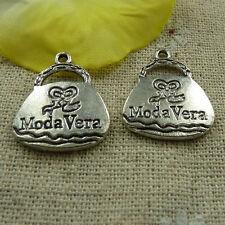 free ship 136 pcs tibetan silver handbag charms 23x19mm #3744