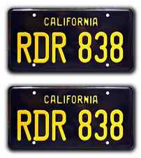 Bullitt / '68 Charger / RDR 838 *METAL STAMPED* Prop Replica License Plate Combo