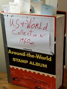 Around The World Stamp Album 1840 - 1960 w/ a few stamps