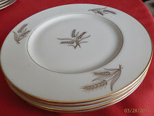 "Lenox R-441 Lot of 4... HARVEST pattern 10 1/2"" dinner plates pristine condition"