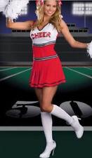 CHEERLEADER GLEE FANCY DRESS OUTFIT HIGH SCHOOL MUSICAL UNIFORM COSTUME RED