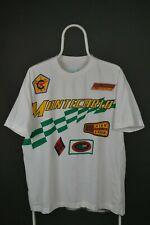 United Colors of BENETTON Montecarlo Racing Auto Moto t shirt white sz XL