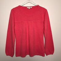 Boden Size US 8 Long Sleeve Pullover Soft 100% Cashmere Sweater In Pink Color