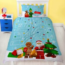 Lego Minifigures HoHoHo Single Christmas Duvet Cover Set Reversible Bedroom